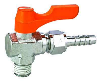 Brass Ball Cock Valve with Female xNozzle Standard Bore Suit for Water Gas Oil.