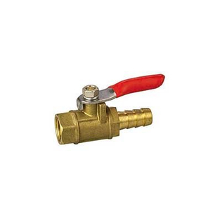 Brass Mini Ball valves Acid Treatment Surface With Drawn Steel Handle