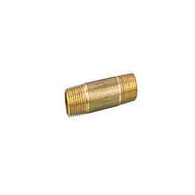 Red Brass Nipple Male pneumatic connector
